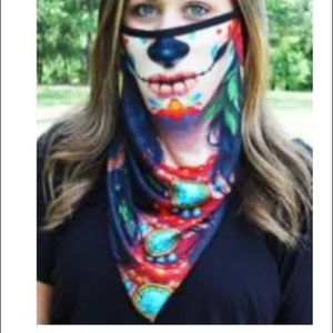 Accessories - New! Day of the dead neck gaiter w/ear loops